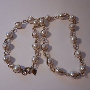 Vintage Sarah Coventry Faux Pearl Choker Necklace